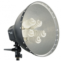 Falcon Eyes LHD-5250F lamp met reflector 40 cm 5 x 28 W