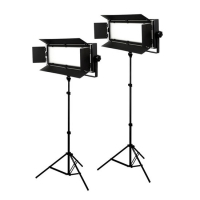 Bresser LED Foto-Video Set 2x LG-600 38W + 2x Statief
