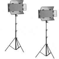 Bresser LED Foto-Video SET 2x LG-500 30W + 2x Statief