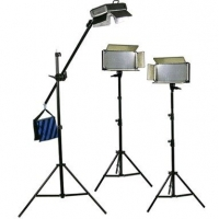 Bresser LED Foto-Video SET 3x LG-500 30W/4.600LUX + 2x Statief + 1x Boomstatief